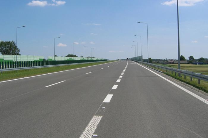 Autostrada A2 w okolicach Łodzi