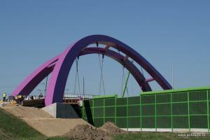Krzywy wiadukt na obwodnicy Pabianic