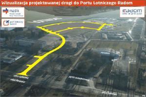 Nowa droga do lotniska w Radomiu