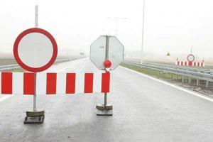 DK 28: Zamknięcie mostu w Sanoku