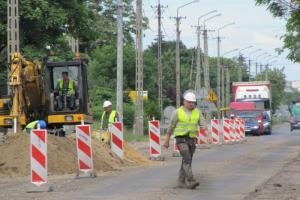 DW 702: Roboty na Łąkoszyńskiej w Kutnie