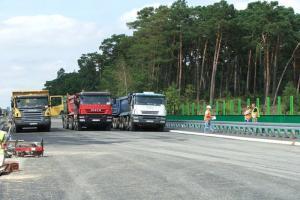 5 prób obciążeniowych na A1 Czerniewice - Kowal