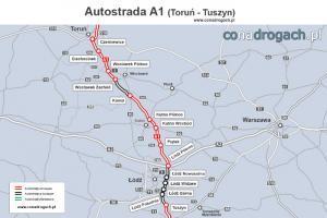 Na A1 z Włocławka do Kowala ruszyły prace odbiorowe