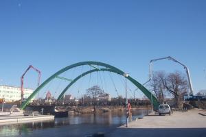 Most w Darłowie w ciągu DW203 dla kierowców