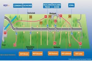 A1: MOP w okolicach węzła Czerniewice otwarty