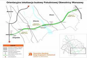 S2: Kolejni wykonawcy chcą budować Południową Obwodnicę Warszawy