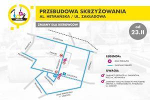 Łódź: Zmiany na skrzyżowaniu Zakładowa/Hetmańska