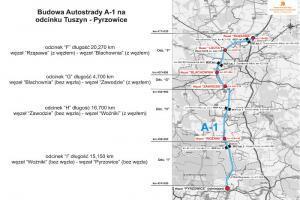 12 wykonawców chętnych do budowy A1 Zawodzie - Woźniki