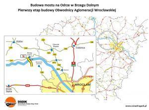 Nowy most na Odrze koło Brzegu Dolnego