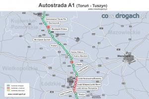 Autostrada A1 Mapy I Plany Autostrady A1