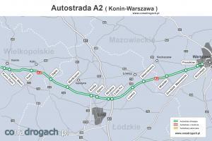 Prezbieg autostrady A2 Konin - Warszawa (Konotopa)