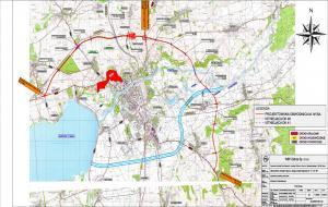 Mapa obwodnicy Nysy w ciągu DK46 i DK41