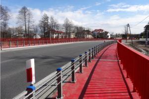 DK74 w Woli Jachowej z nowym mostem