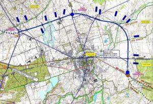 Mapa obwodnicy Suwałk w ciągu drogi ekspresowej S61 Via Baltica