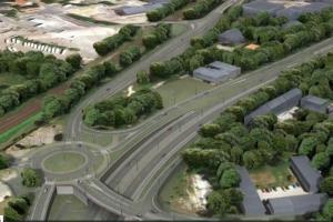 Raport z budowy Drogowej Trasy Średnicowej w Gliwicach