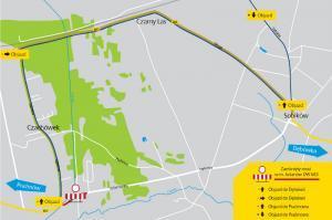 Mazowieckie: Utrudnienia na DW683 w Julianowie