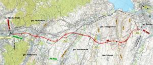 Droga ekspresowa S69 Bielsko-Biała - Żywiec - mapa przebiegu