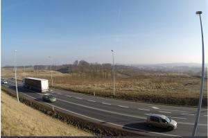 Wielki plac budowy drogi S5 pod Wrocławiem