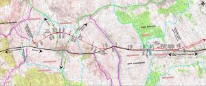 Mapa przebiegu drogi ekspresowej S19 Sokołów Małopolski - Stobierna