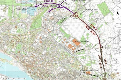 Mapa Przebiegu Obwodnicy Plocka Mapy I Plany Conadrogach Pl