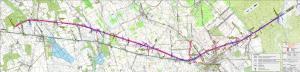 Mapa przebiegu drogi ekspresowej S7 Radom - granica województwa