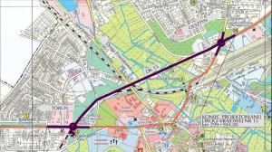 Mapa przebiegu obwodnicy Brodnicy w ciagu DK15 - II etap