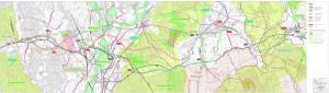 Mapa przebiegu planowanej drogi ekspresowej S19 Sokołów Małopolski- granica województw