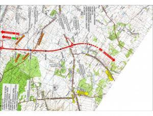 Autostrada A1 odcinek Blachownia - Zawodzie - mapa przebiegu