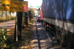 Mazowieckie: Blokada DK8 w miejscowości Oddział