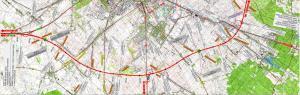 Autostradowa Obwodnica Częstochowy - mapa odcinka autostrady A1 Rząsawa - Blachownia