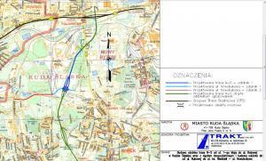Trasa N-S w Rudzie Śląskiej - mapa przebiegu