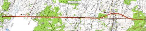 S17 od końca obwodnicy Garwolina do Gończyc - mapa przebiegu drogi ekspresowej