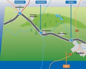 Droga ekspresowa S5 - mapa odcinka Szubin - Białe Błota