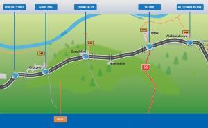 Droga ekspresowa S5 - mapa odcinka Dworzysko - Aleksandrowo