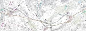 Mapa drogi ekspresowej S7 Frąknowo - Załuski
