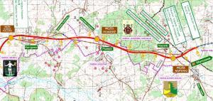 Mapa drogi ekspresowej S7 Nidzica Południe - Napierki