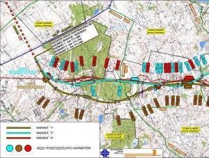 Mapa drogi ekspresowej S61 Suwałki - MOP Jasinowo