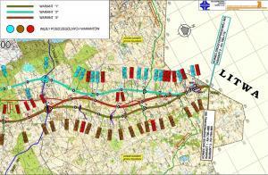 Mapa drogi ekspresowej S61 Sejny - Budzisko