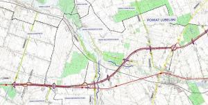 Mapa drogi ekspresowej S19 Lublin - Niedrzwica Duża