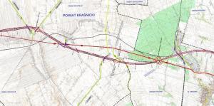 Mapa drogi ekspresowej S19 Wilkołaz - Kraśnik