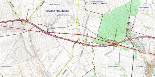 Mapa Drogi Ekspresowej S19 Wilkolaz Krasnik Mapy I Plany