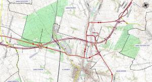 Mapa obwodnicy Kraśnika w ciągu drogi ekspresowej S19