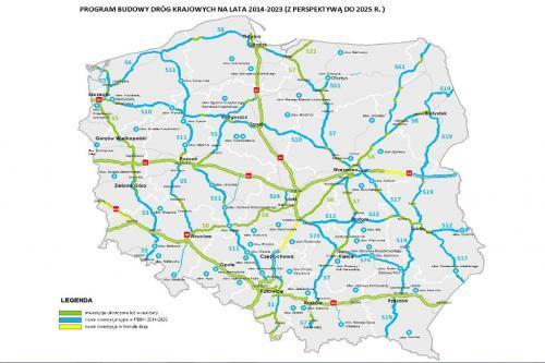 Mapa Autostrad Drog Ekspresowych I Obwodnic Jakie Powstana Do
