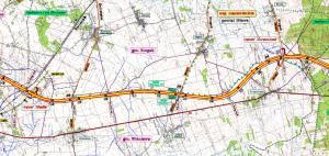Mapa drogi ekspresowej S7 Modła - Żurominek