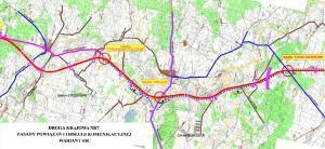 Mapa drogi ekspresowej S7 Strzegowo - Pieńki