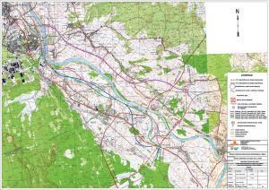 Obwodnice Niska i Stalowej Woli: mapa wariantów przebiegu drogi krajowej nr 77