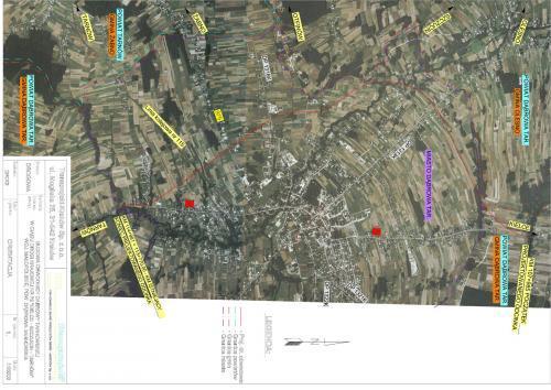 Mapa obwodnicy Dąbrowy Tarnowskiej w ciągu DK73
