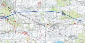 Mapa autostrady A2 Warszawa - Mińsk Mazowiecki (odc. 2. w. Konik - początek obwodnicy Mińska Maz.)