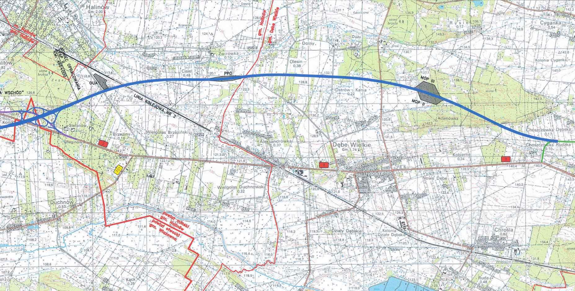 a2 mapa Mapa autostrady A2 Warszawa   Mińsk Mazowiecki (odc. 2. w. Konik  a2 mapa