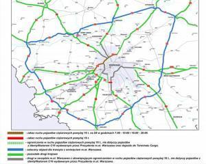Ograniczenia dla ciężarówek na obwodnicy Warszawy